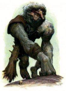 Exemple d'un troll des montagnes